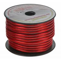 [Napájací kábel hrúbka 10 mm, červeno transparentný metráž.]