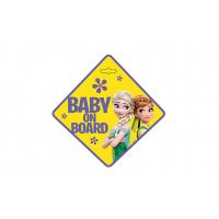 [Tabuľka do auta - Dieťa v aute - BABY ON BOARD FROZEN]