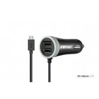 [Nabíjačka do auta 12/24V Micro + 2x USB 2.4A PCH PRO-01]