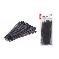 [Sťahovacie pásky čierne 4,8x200mm - 100 ks]