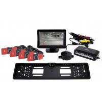 """[Asistent parkovania LCD 4,3"""" s kamerou HD-402-LED 4-senzorové čierne vnútorné]"""