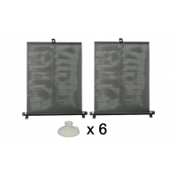[Roleta proti slnečnému žiareniu s prísavkami 2 x 50 cm čierna, PVC]