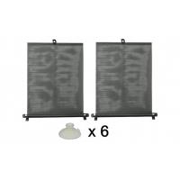 [Roleta proti slnečnému žiareniu s prísavkami 2 x 55 cm čierna, PVC]