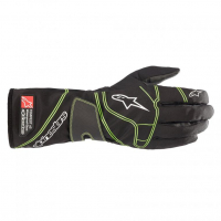 [DETSKÉ Rukavice Alpinestars TEMPEST V2 S WATERPROOF - BLACK FLUO GREEN]