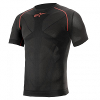 [Alpinestars Nátelník RIDE TECH V2 TOP SHORT SLEEVE SUMMER - BLACK RED]