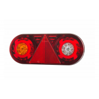 [Zadné svetlo kombinované s trojuholníkovým reflektorom HOR 105, STELLA, LED 12/24 V, ĽAVÉ (6-funkčné, okrúhly kábel 6x0,5 mm2, dĺžka 2 m)]
