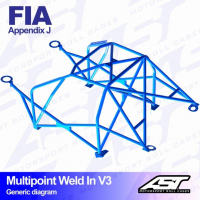 [Roll Cage VW Polo (6N) 3-doors Hatchback MULTIPOINT WELD IN V3]