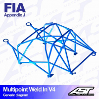 [Roll Cage VW Polo (6R) 3-doors Hatchback MULTIPOINT WELD IN V4]