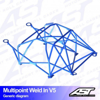 [Roll Cage VW Polo (6R) 3-doors Hatchback MULTIPOINT WELD IN V5]