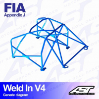 [Roll Cage VW Polo (6R) 3-doors Hatchback WELD IN V4]