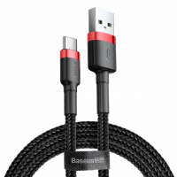 [Kabel USB na USB-C BASEUS Cafule 2A 200 cm červený a černý]