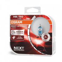 [Halogén. Žiarovka OSRAM H8 Night Breaker Laser +150% BOX - 2ks]
